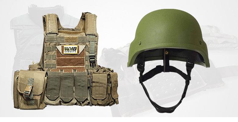 Ballistc Helmet and Vest